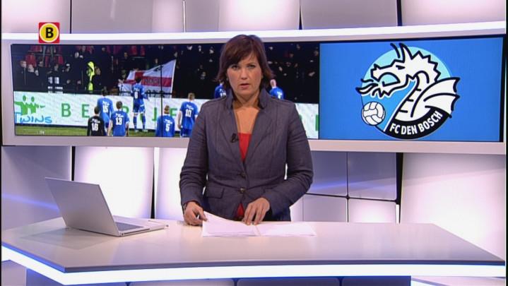Verslaggever Arjan van der Giessen voor stadion FC Den Bosch