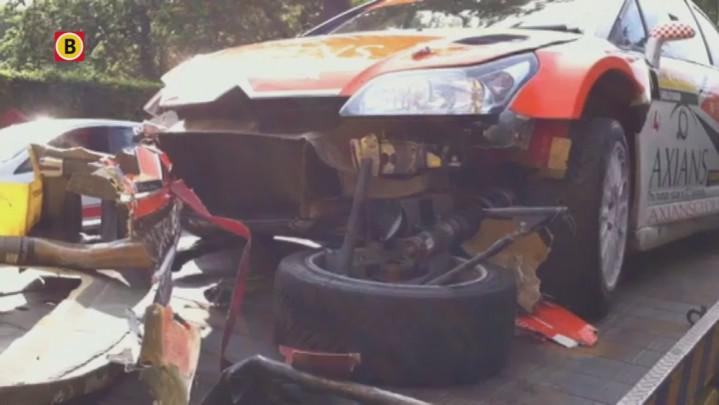 Jeroen Swaanen gecrasht tijdens ELE Rally 2013