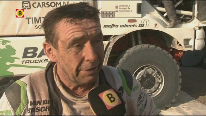 Trucker Eimbert Timmermans uit Veghel over de technische problemen tijdens negende etappe van de Dakar Rally