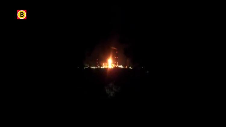 Beelden van grote brand bij de Shell-fabriek in Moerdijk (bron: YouTube)