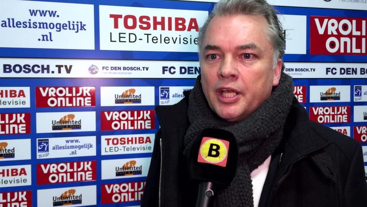 FC Den Bosch-directeur Edward van Wonderen over de afgelaste wedstrijd tegen Sparta: 'Heel zuur'