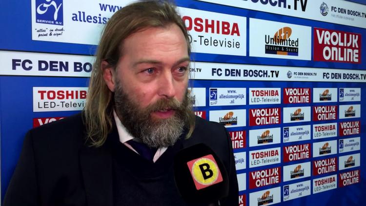 FC Den Bosch-trainer René van Eck baalt dat de wedstrijd tegen Sparta niet doorgaat