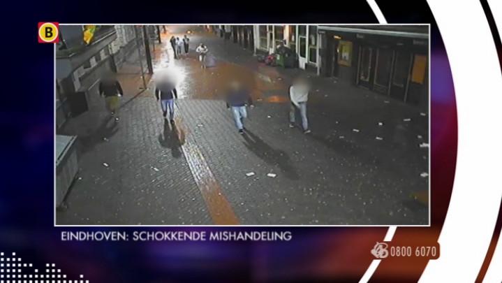 Beelden Bureau Brabant van de mishandeling in Eindhoven
