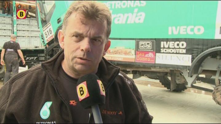 Hans Stacey tijdens de rustdag van de Dakar Rally