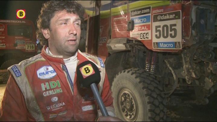 Vrachtwagenchauffeur Peter Versluis uit Werkendam over het uitvallen tijdens de Dakar Rally