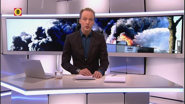 18:30 - Grote brand verwoest bedrijven Industriepark Vliedberg Vlijmen, blussen duurt nog hele nacht