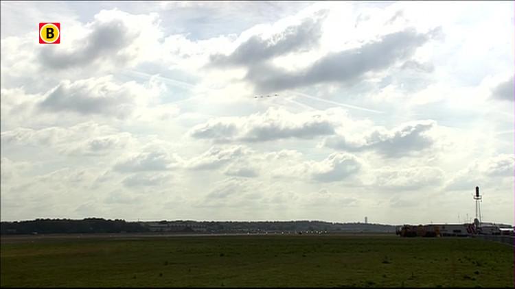 Fokker Four demonstratie op Luchtmachtdagen 2014 Gilze-Rijen