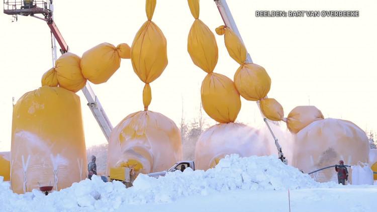 Studenten TU/E bouwen ijsversie van Sagrada Familia