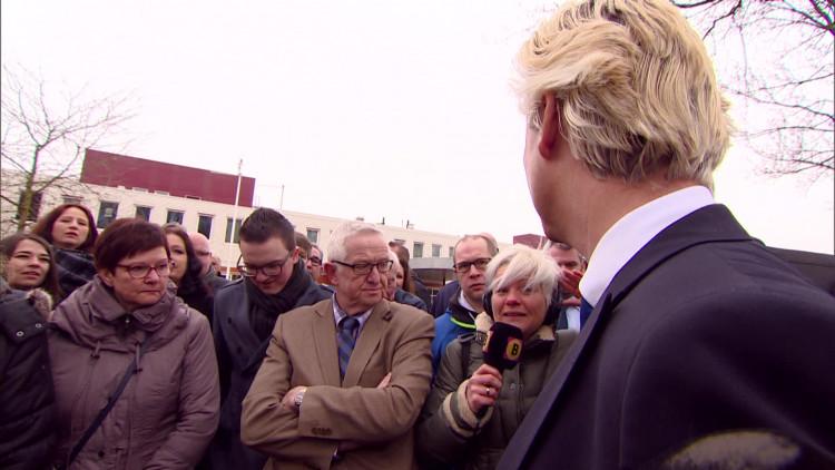Geert Wilders live in gesprek met Omroep Brabant-verslaggever Femke de Jong