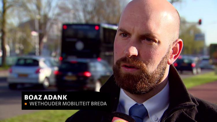 Breda start met lokaal spitsmijden aan Wilhelminasingel, 'Het is hier 's ochtends echt aansluiten'