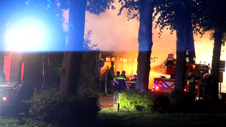 Brand in café Ravenstein