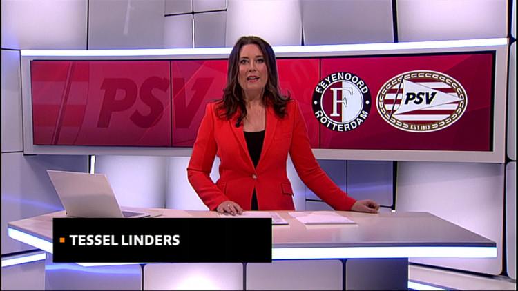 De Eindhovenaren verloren met 2-1 bij koploper Feyenoord.