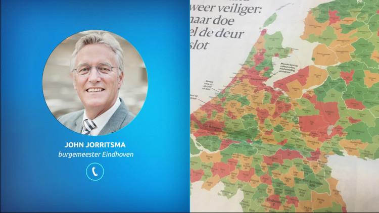 'Wil politie veel meer vrijmaken voor zaken die echt politie-aandacht vragen', burgemeester John Jorritsma van Eindhoven reageert op hoge positie van zijn stad in AD Misdaadmeter