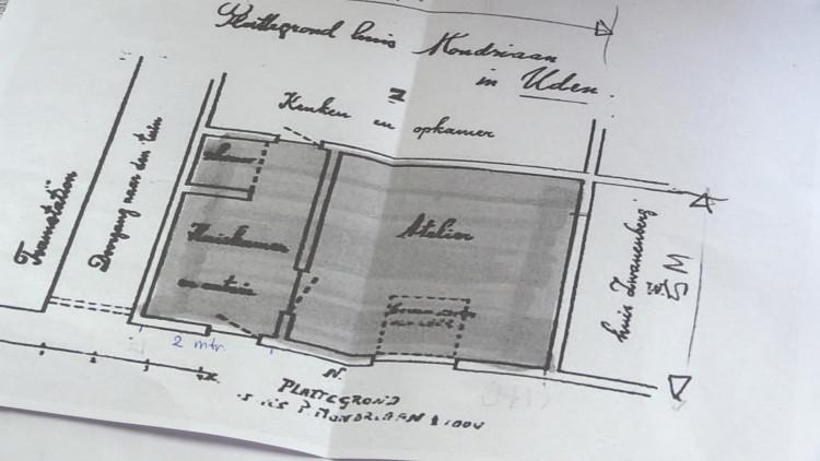 In Uden wordt het atelier van Piet Mondriaan tijdelijk nieuw ingericht
