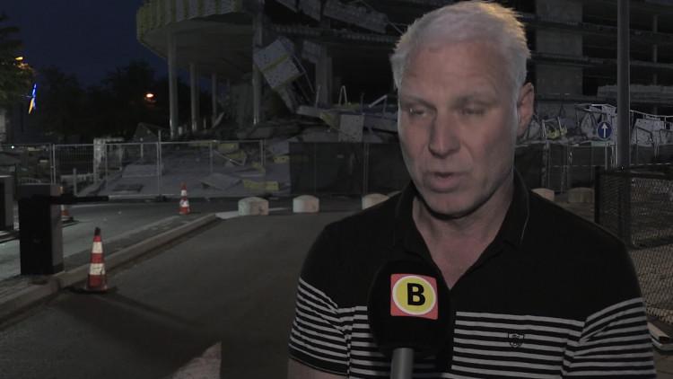 Jan Kempkens van bouwbedrijf BAM heeft geen idee hoe het kan dat de garage ingestort is