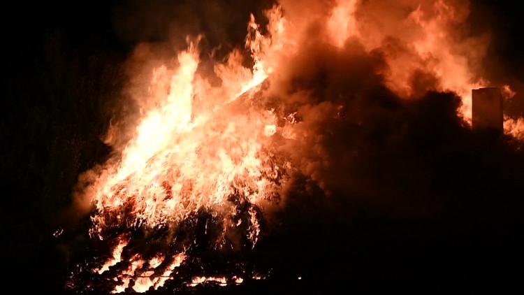 Leegstaande villa Waalre uitgebrand