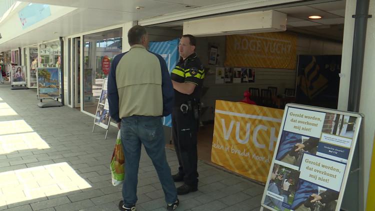 Eerste pop-up politiebureau van Brabant in Breda