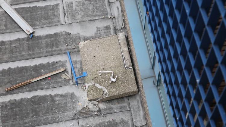 Deel van balkon ingestort in Roosendaal