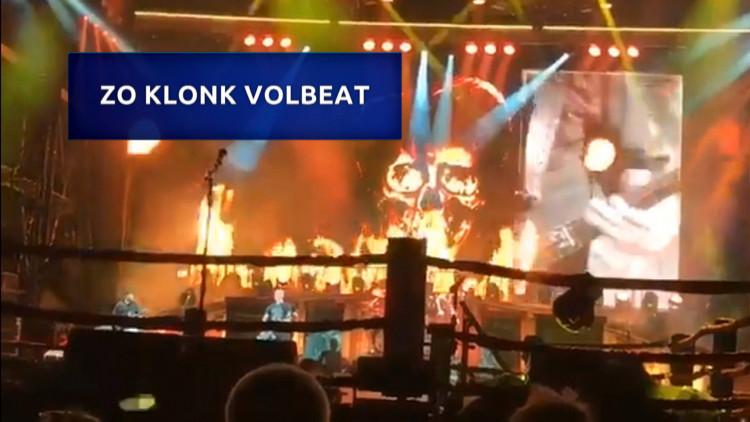 Zo klonk het concert van Volbeat