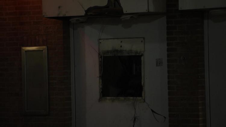 De schade aan het ING-gebouw in Geldrop waar de plofkraak plaatsvond, is aanzienlijk