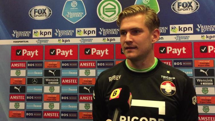 Mattijs Branderhorst hield de nul in zijn eerste wedstrijd als de nummer één van Willem II