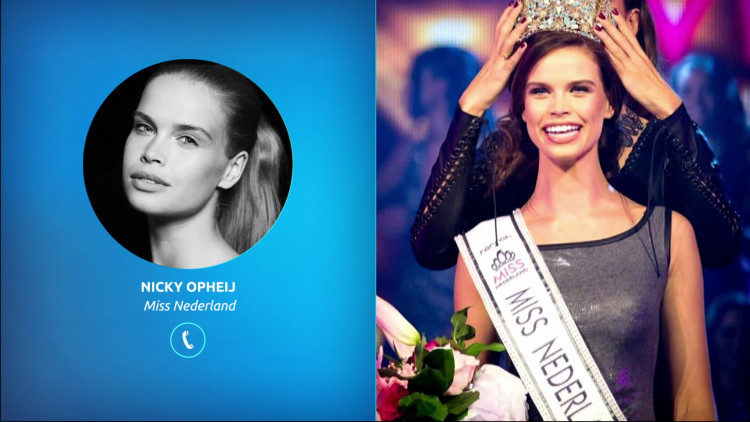 Miss Nederland Nicky Opheij maakt zich op voor verkiezing Miss Universe