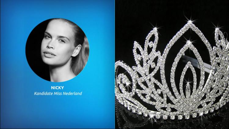 Nicky Opheij bereidt zich voor op finaleshow Miss Universeverkiezing