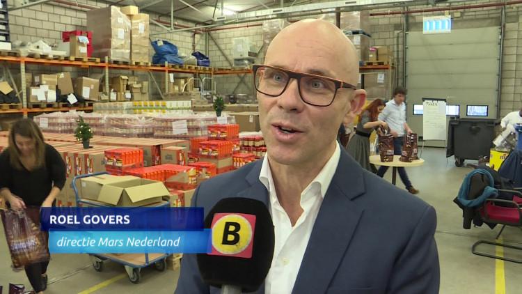Mars in Veghel levert 5500 pakketten aan de voedselbanken