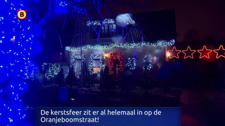 Kerstlichtshow op de Oranjeboomstraat in Breda