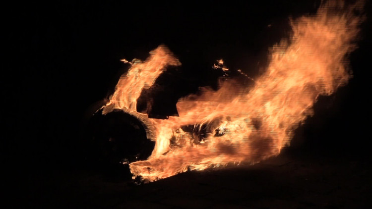 De vijfde 'dakdekkersbrand' vond plaats aan de Frans Erensstraat