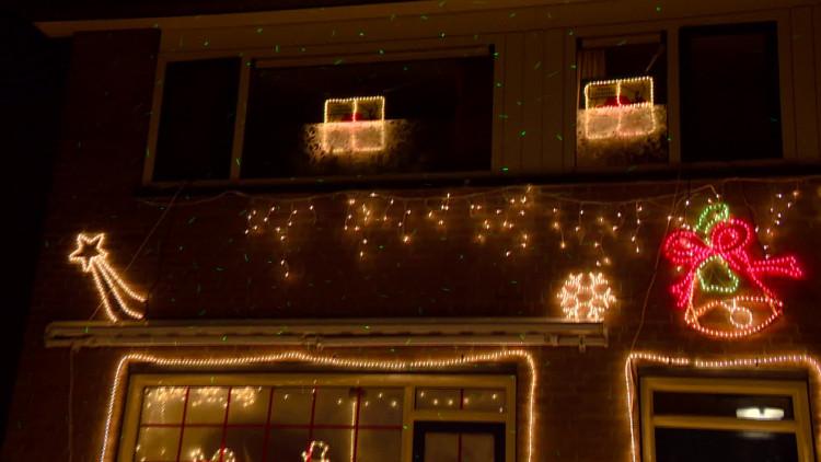 Het kersthuis van de familie Blom in Boxtel.