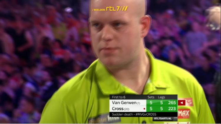 Het WK zit erop voor Michael van Gerwen.