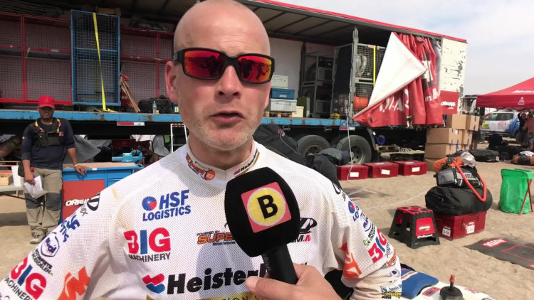 Jurgen van den Goorbergh na etappe 2 van Dakar Rally