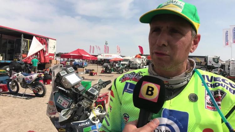 Edwin Straver na etappe 2 van Dakar Rally