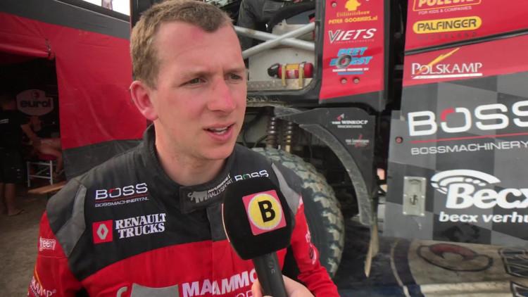 Janus van Kasteren na etappe 2 van Dakar Rally