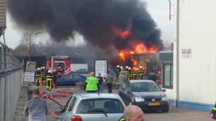 Brand in loods Oudenbosch