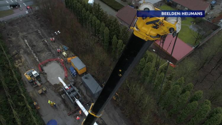 Heijmans en Brabant Water trekken nieuwe waterleiding in één dag in de grond