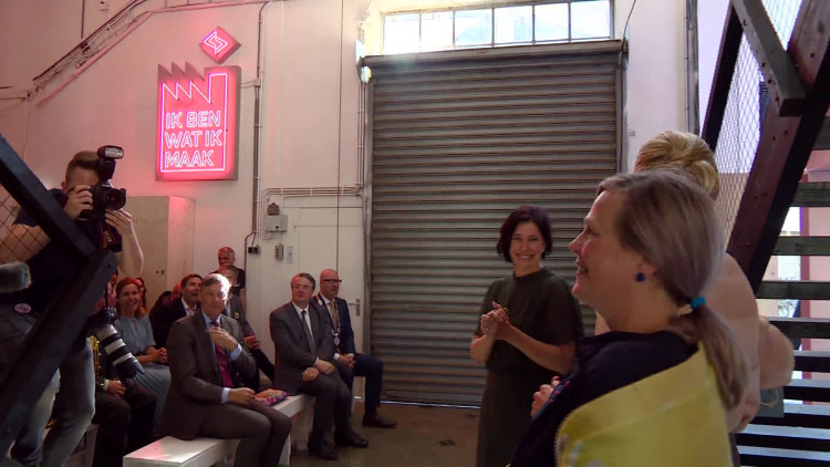 Máxima opent het Social label Lab in Den Bosch