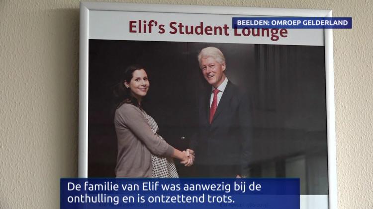 Familie reageert op de onthulling van 'Elif's Student Lounge' van de Radboud Universiteit