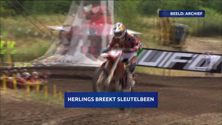 Motorcrosser Jeffrey Herlings breekt sleutelbeen