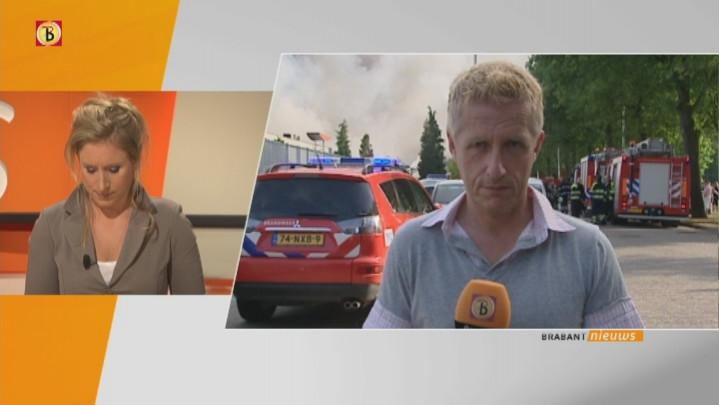 Verslaggever Jan Waalen bij de brand